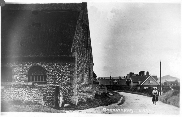 Overstrand High Street showing the entrance to Ivy Farm