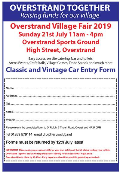 Classic and Vintage Car Entry Form