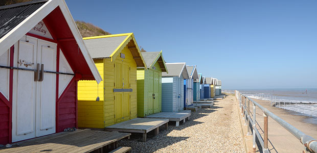 Beach huts, Overstrand, Norfolk