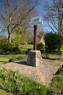 Overstrand village sign, Norfolk
