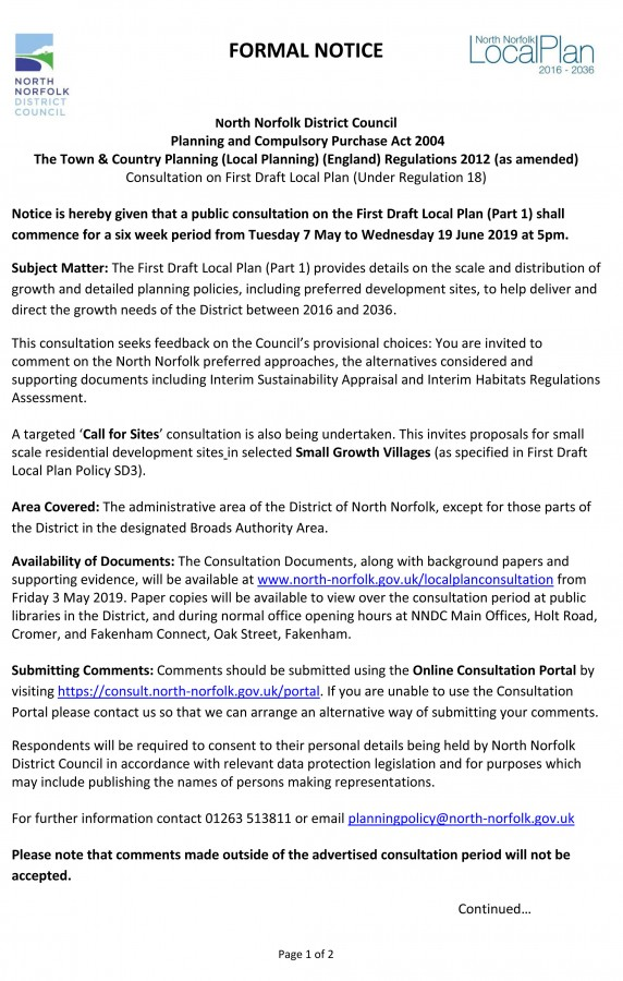 Local Plan Consultation Page 1