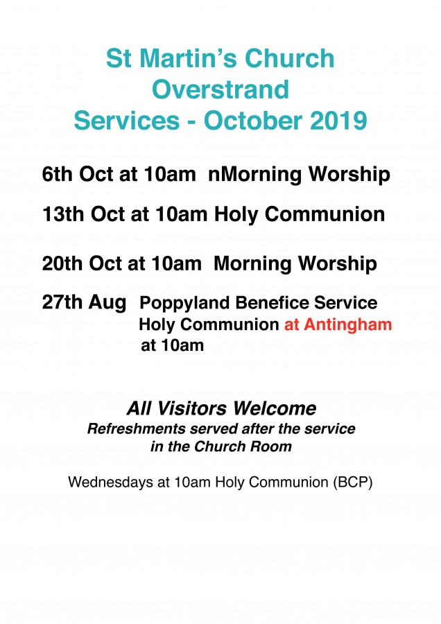 October Services 2019