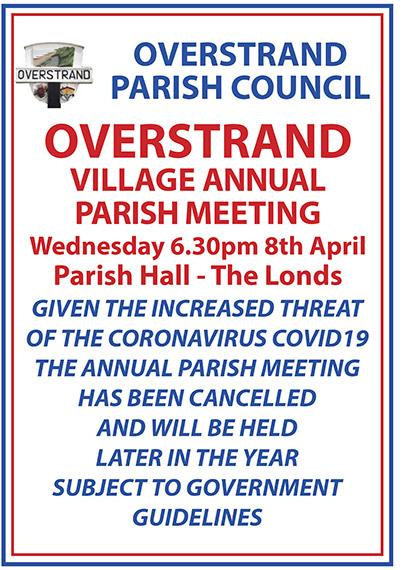 Annual Parish Meeting CANCELLED