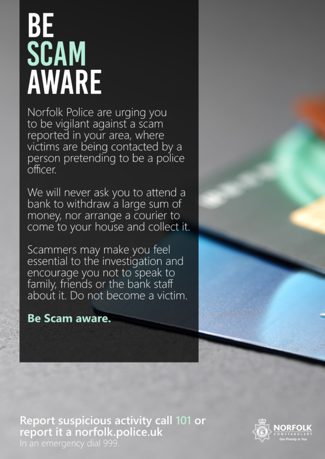 Be Scam Aware Poster